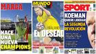 Las portadas del día: la nueva Champions, el deseado en Can Barça...