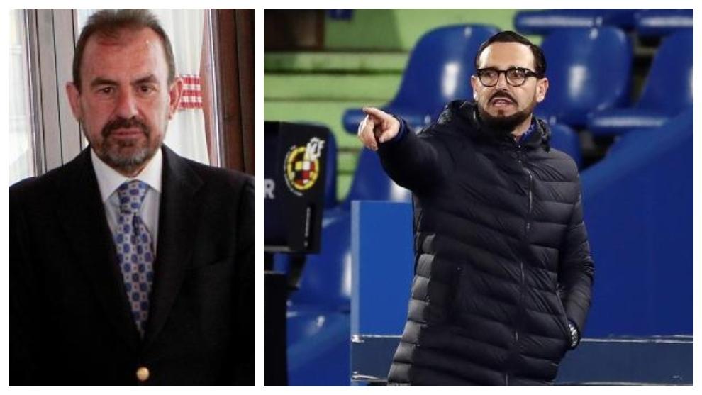 Un montaje con Ángel Torres, presidente del Getafe, y José...