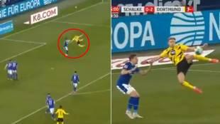 """El brutal gol de Haaland que dará la vuelta al mundo: """"Este j... enfermo ahora sabe volar"""""""