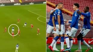 La asistencia 'imposible' de James para destrozar al Liverpool