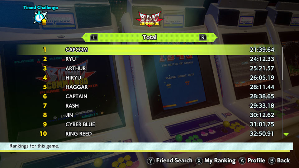 Capcom Arcade Stadium Rank