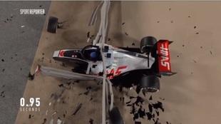 La escalofriante recreación del accidente de Grosjean