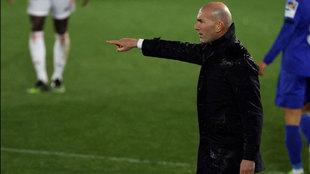 Zinedine Zidane, durante el partido
