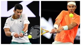 Djokovic y Nadal, en acción