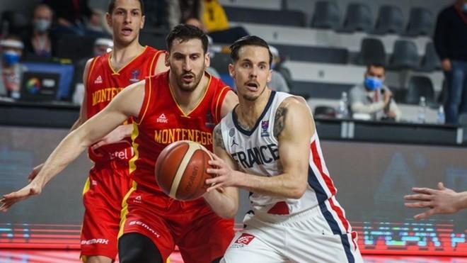 Thomas Heurtel durante el partido con Francia en Montenegro.