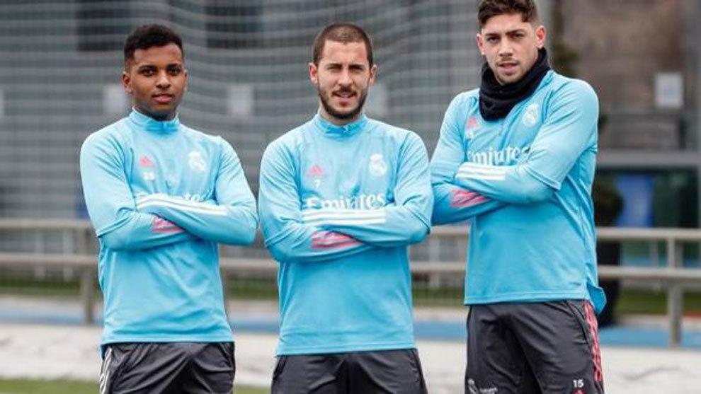 Rodrygo, Hazard and Valverde