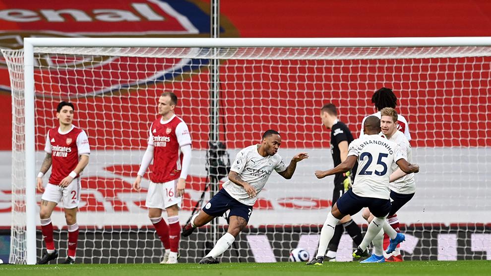 El Manchester City vence al Arsenal y ya suma 18 victorias consecutivas