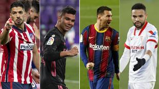Suarez, Casemiro, Messi and En-Nesyri