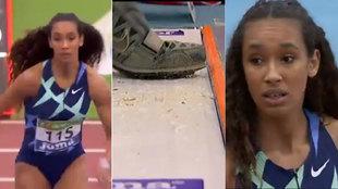 Borran la marca a María Vicente en un salto que le hubiera dado la victoria