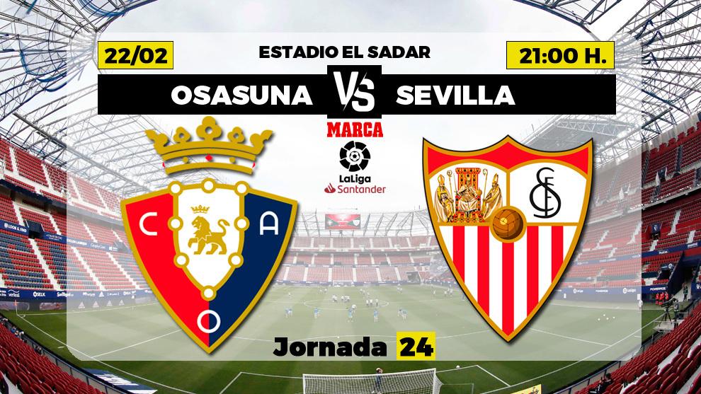 Osasuna - Sevilla: Horario, canal TV y donde ver el partido de LaLiga