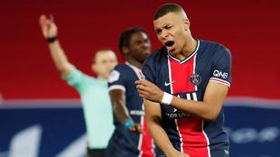 Kylian Mbappé lamentó las fallas del PSG ante el Mónaco. |