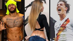 Neymar, futbolista del PSG que hasta hace poco saliá con la modelo...