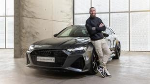 Sergio Ramos, con su Audi RS 6 Avant