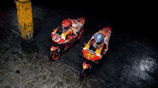 Marc y Pol, sobre sus Honda.