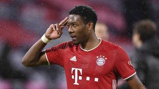 Alaba, durante un partido con el Bayern