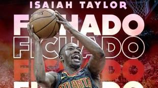 Así dio la bienvenida a Isaiah Taylor el UCAM Murcia en su web...