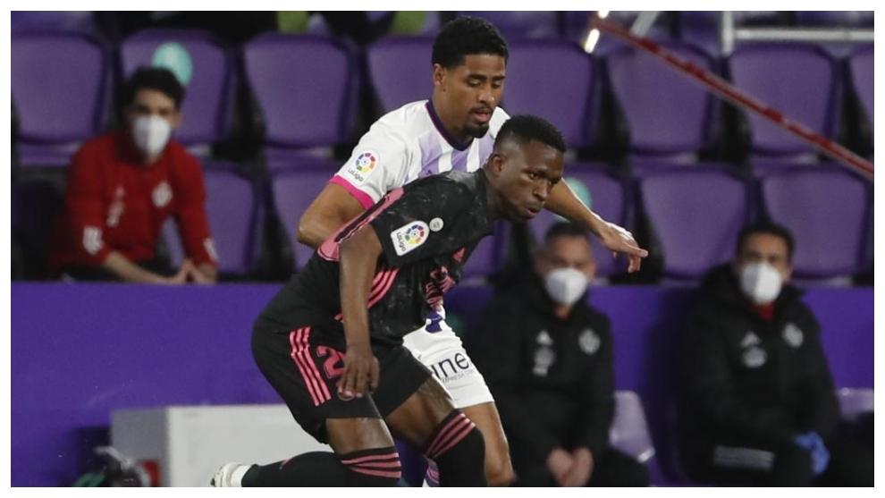 Vinicius against Valladolid.