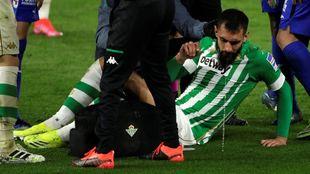 Borja, tras sufrir un penalti ante el Getafe