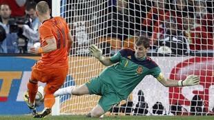 Casillas, en el momento de detener