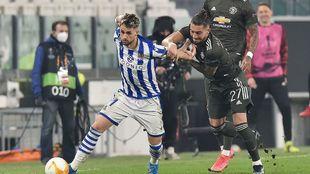 Januzaj, en el partido de la ida en Turín frente al United.