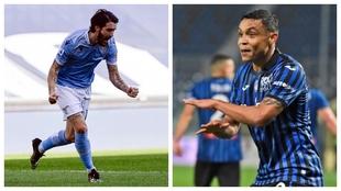 Luis Alberto y Luis Muriel, jugadores de Lazio y Atalanta.