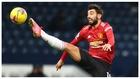 Bruno Fernandes realiza un espectacular control en el partido de...