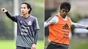Diego Lainez y José Juan Macías, en la convocatoria de México para...