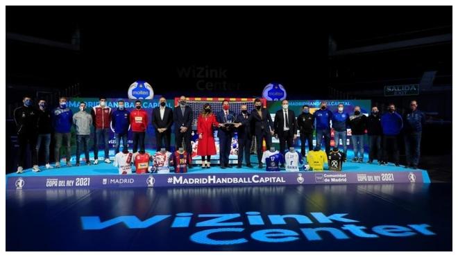 Presentación de la Copa del Rey de balonmano de 2021 en el Wizink...