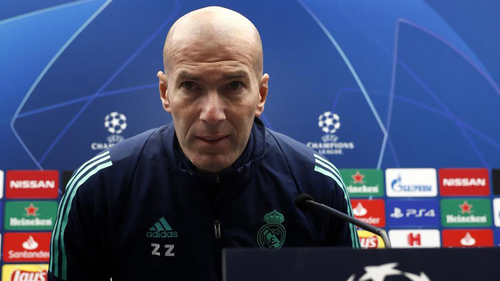 Zinedine Zidane, en la sala de prensa.