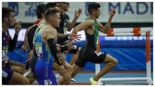 Daniel Rodríguez encabeza la final de los 60 metros en el Campeonato...