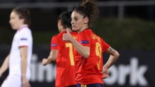 Esther González, jugadora de la selección española.