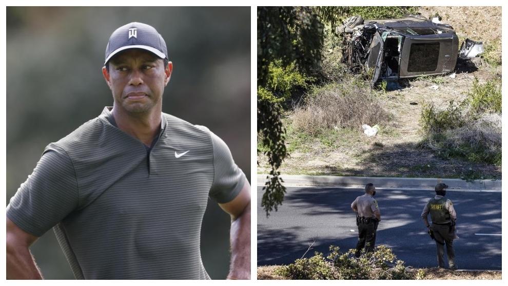 Tiger Woods sufre un accidente de tráfico en Los Ángeles.