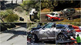La SUV Genesis GV80 de Tiger Woods y sus extensivos daños en la...