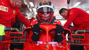 Carlos Sainz, en el test de Fiorano.