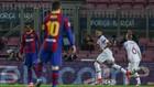Mbappé celebra uno de los tantos contra el Barça.