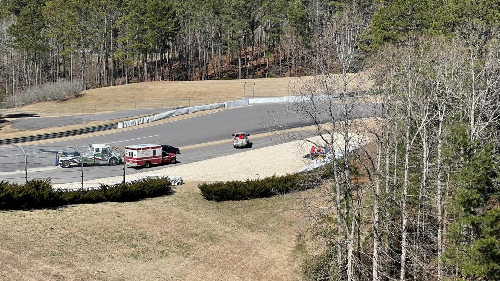 Grosjean, tras el accidente en su debut en la IndyCar.
