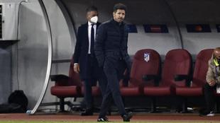 Cholo Simeone durante el partido ante el Chelsea.