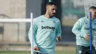 Víctor Ruiz, en un entrenamiento
