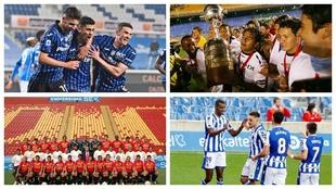 La Atalanta, la Liga Deportiva Universitaria de Quito, la Unión...