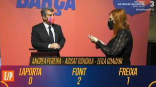 La 'trampa' de TV3 a los candidatos del Barça: la cara de Laporta lo dice todo