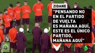 Las palabras de Zidane a sus jugadores antes del partidazo ante el Atalanta