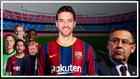 Montaje con Pau Gasol y la equipación oficial del Barça de fútbol.