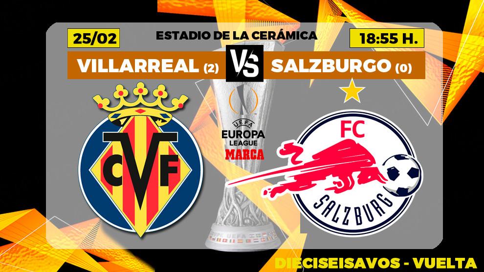 Villarreal - Salzburgo en directo: Emery sale con todo