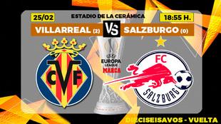 Horario y donde ver en TV hoy el Villarreal Salzburgo