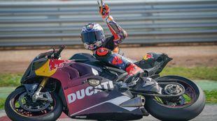 Jack Miller, con la Ducati Panigale V4.