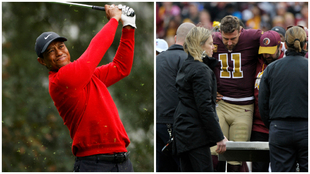Tiger Woods and Alex Smith