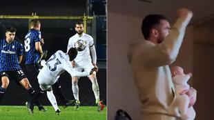 Cuando eres jugador del Madrid, lo ves por la tele con el bebé en brazos... y marca Mendy