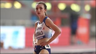 Sarah McDonalnd, en el Mundial de atletismo de 2019.