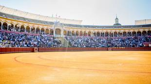 Panorámica de La Maestranza de Sevilla.