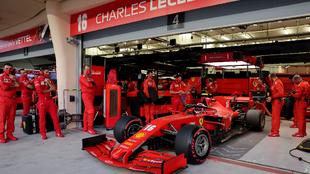 Leclerc, durante el GP de Bahréin 2020.